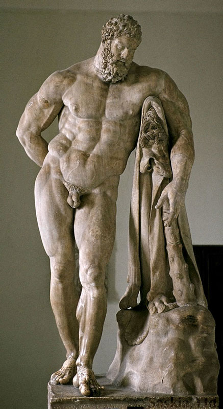 Геркулес Фарнезийский красивая мужская фигура