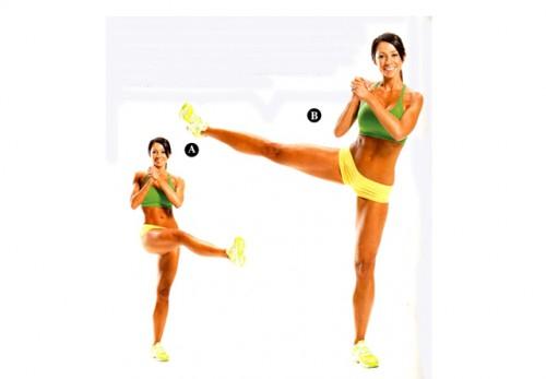 упражнения динамической растяжки махи ногой в сторону