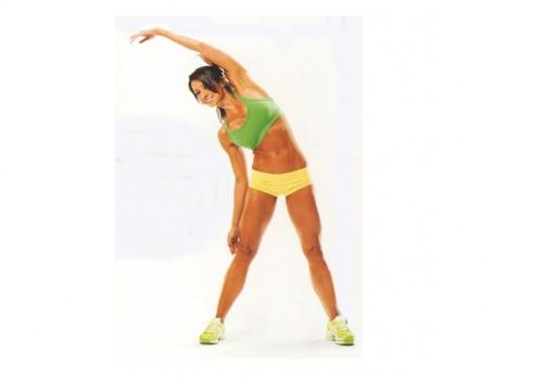упражнения динамической растяжки -наклоны в стороны