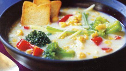 Фитнес-диета Молочный суп с кукурузой