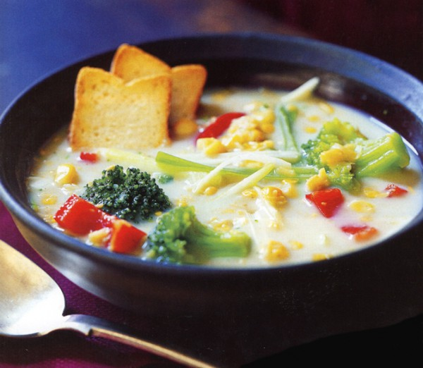 рецепты первых блюд молочный суп с кукурузой
