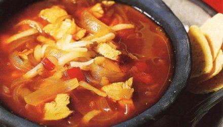 Фитнес-диета Острый куриный суп