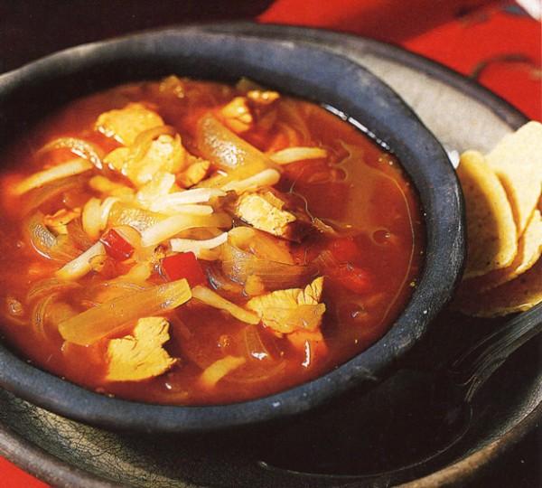 Рецепты первых блюд|Острый куриный суп