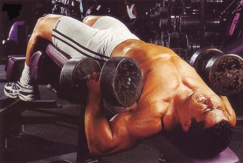 упражнения для груди жим гантелей с обратным наклоном
