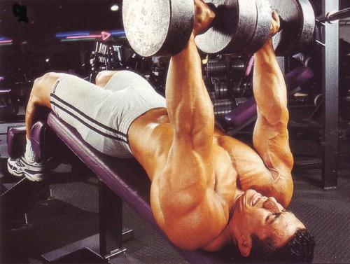 жим гантелей на скамье с обратным наклоном упражнения для груди