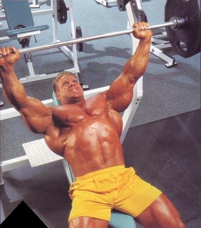 упражнения для груди жим лежа на наклонной скамье