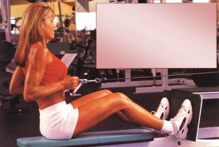 упражнения для спины тяга блока к животу сидя