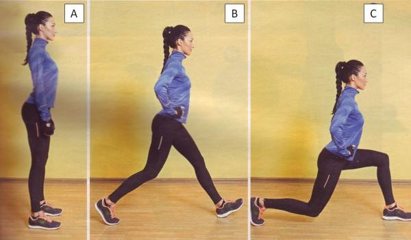выпады в движении упражнения для ягодиц