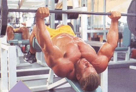 упражнения для груди жим на налонной скамье с обратным наклоном