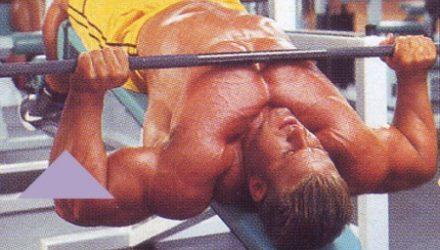 Упражнения для груди Жим штанги лежа на скамье с обратным наклоном