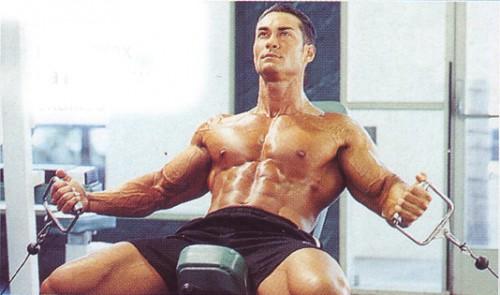 упражнения для груди разведение на блоках на наклонной скамье