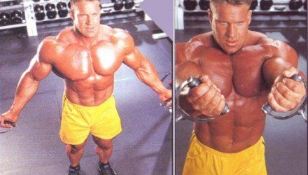 Упражнения для груди Кроссоверы на нижнем блоке