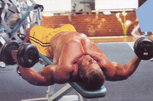упражнения для груди разведения обратный наклон