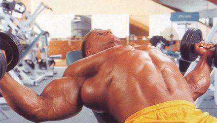 Упражнения для груди Разведения гантелей на скамье с наклоном вверх