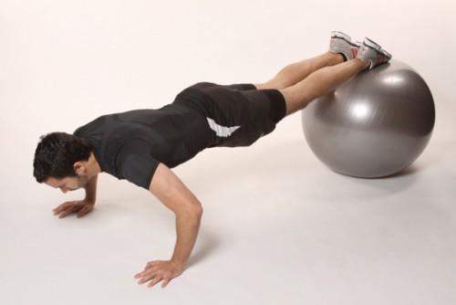 отжимания на мяче упражнения для груди