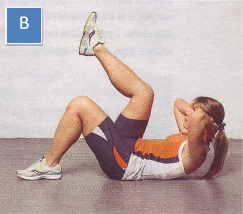 упражнения для пресса скручивания с одной ногой-02