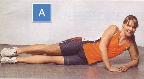 упражнения для пресса боковые подтягивания ног -01