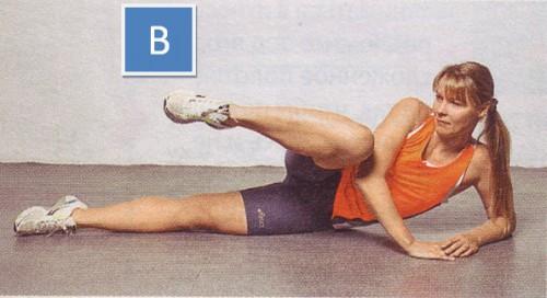 упражнение для пресса боковые подтягивания ног -02