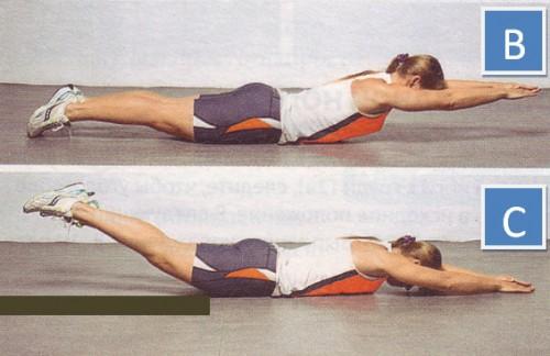 упражнения для спины техника обратных подъемов корпуса -02